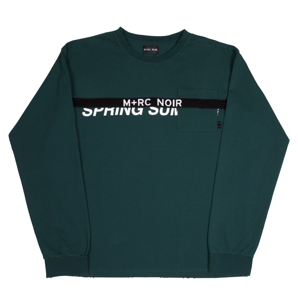 M+RC NOIR FOREST GREEN LONG SLEEVES VELCRO TEE