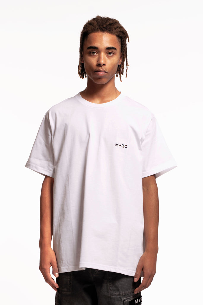M+RC NOIR WHITE SPLIT TEE