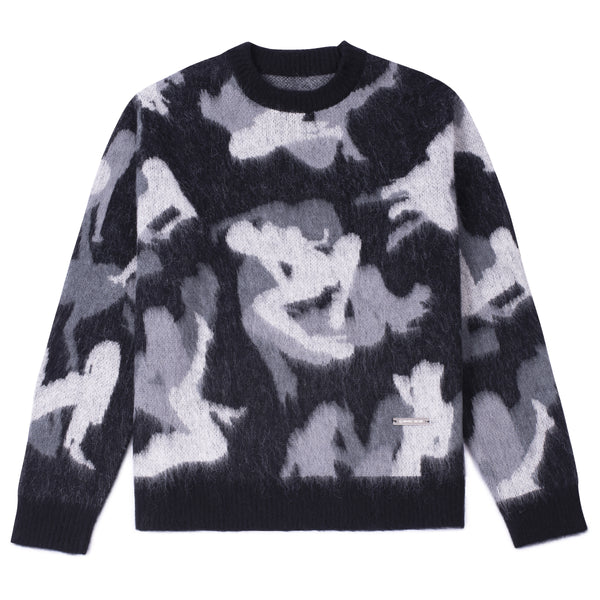 M+RC NOIR SILENCIO CAMO KNITTED SWEATER