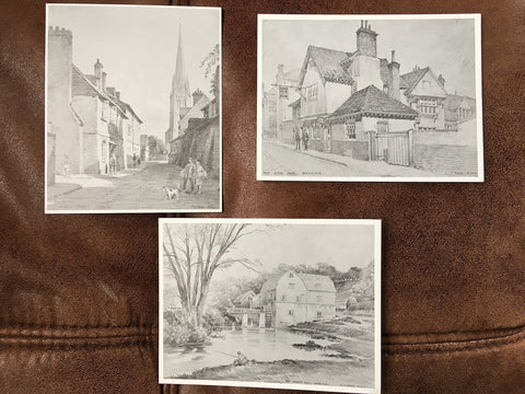 Arthur Fare. 3 x Black and White Postcards. Scenes of Dorking