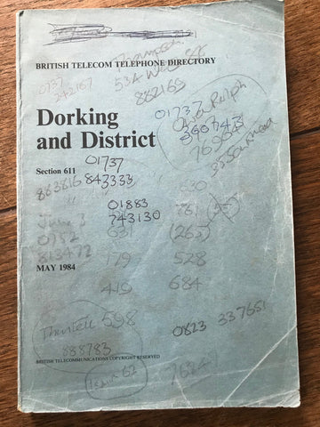British Telecom Telephone Directory. Dorking and District May 1984