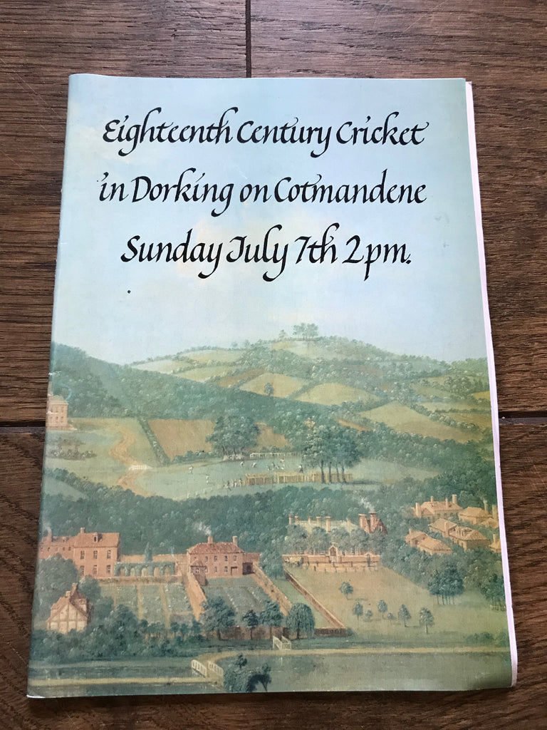 Eighteenth Century Cricket in Dorking on Cotmandene Programme