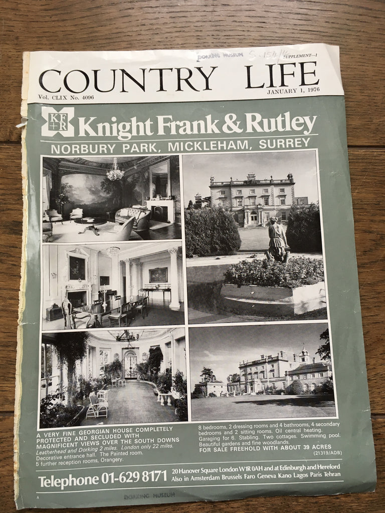 Norbury Park, Mickleham, Country Life Advert 1976