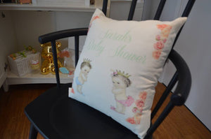 Custom Baby Shower Pillow - Kaela Party Craft