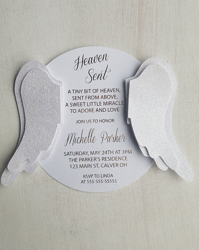 Heaven Sent Baby Shower Invitations Kaela Party Craft