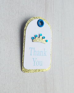 Blue and Gold Baby Shower Favor Tags - Kaela Party Craft