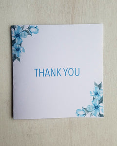 Blue Floral Baby Shower Thank You Cards
