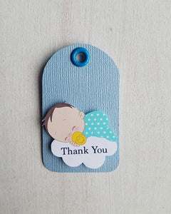 Boy Twinkle Little Star Baby Shower Favor Tags - Kaela Party Craft