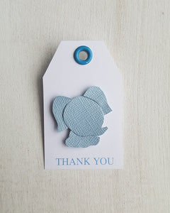 Boy Elephant Baby Shower Favor Tags