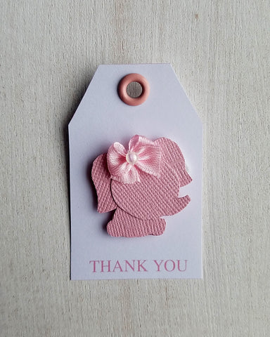 Girl Elephant Baby Shower Favor Tags