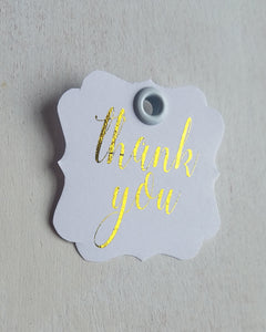 Gold Foil Baby Shower Favor Tags