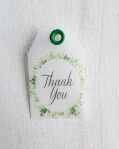 Greenery Baby Shower Favor Tags