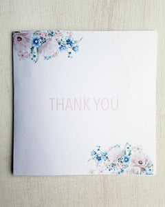 Pink Floral Baby Shower Thank You Cards