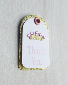 Pink and Gold Baby Shower Favor Tags - Kaela Party Craft