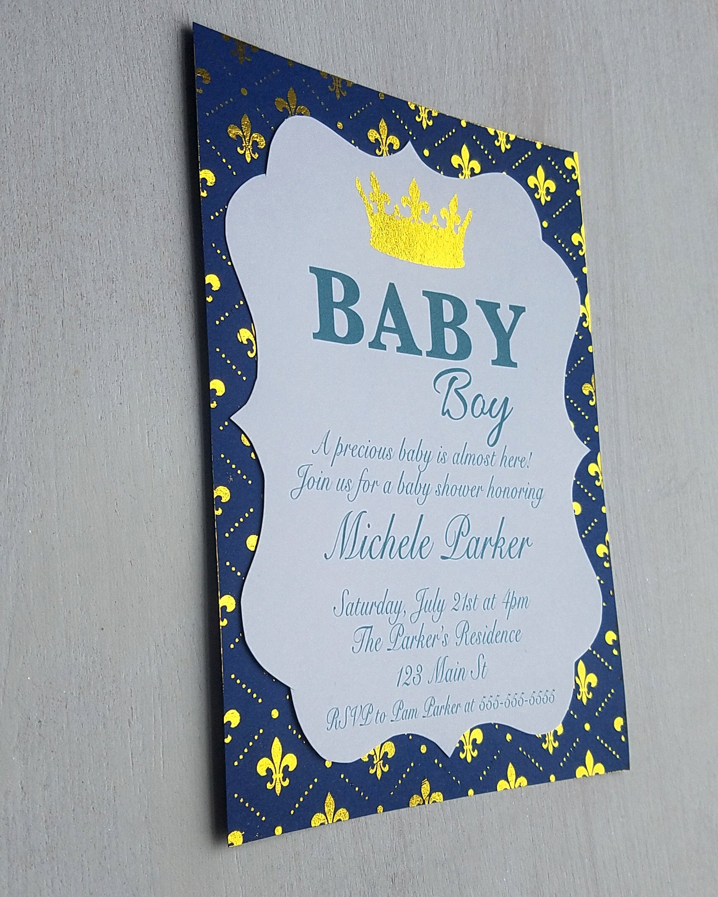 Royal Prince Baby Shower Invitations - Kaela Party Craft