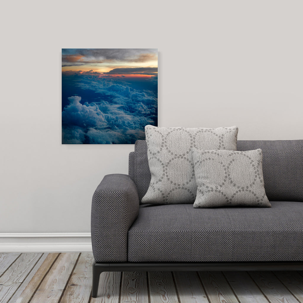 "LIK Squared by Peter Lik clouds wall art, affordable wall decor, medium 19.375"" square Acrylic Print in living room"