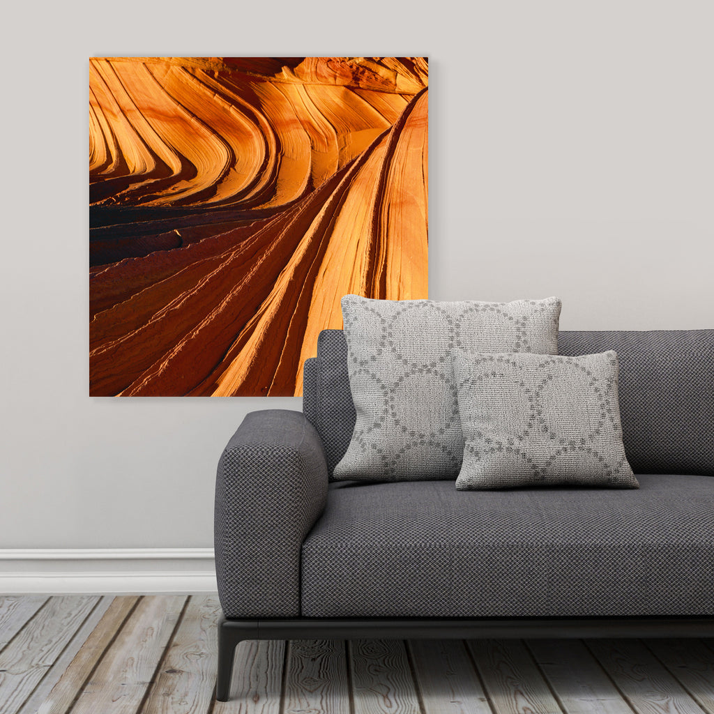 "LIK Squared by Peter Lik abstract wall art, affordable wall decor, large 29.5"" square Acrylic Print in living room"