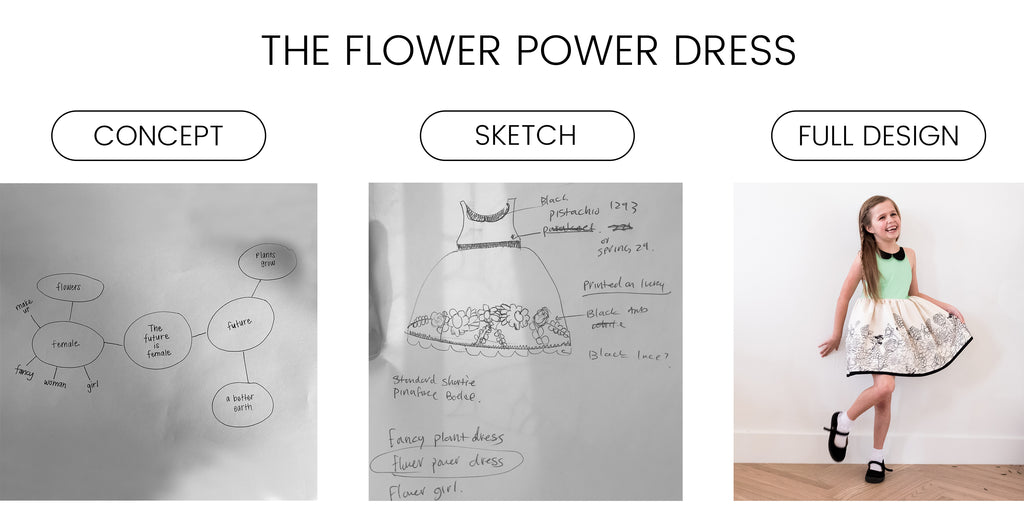 the flower power dress by Addie