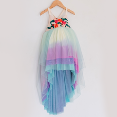 Unicorn Dress- Aqua 2T