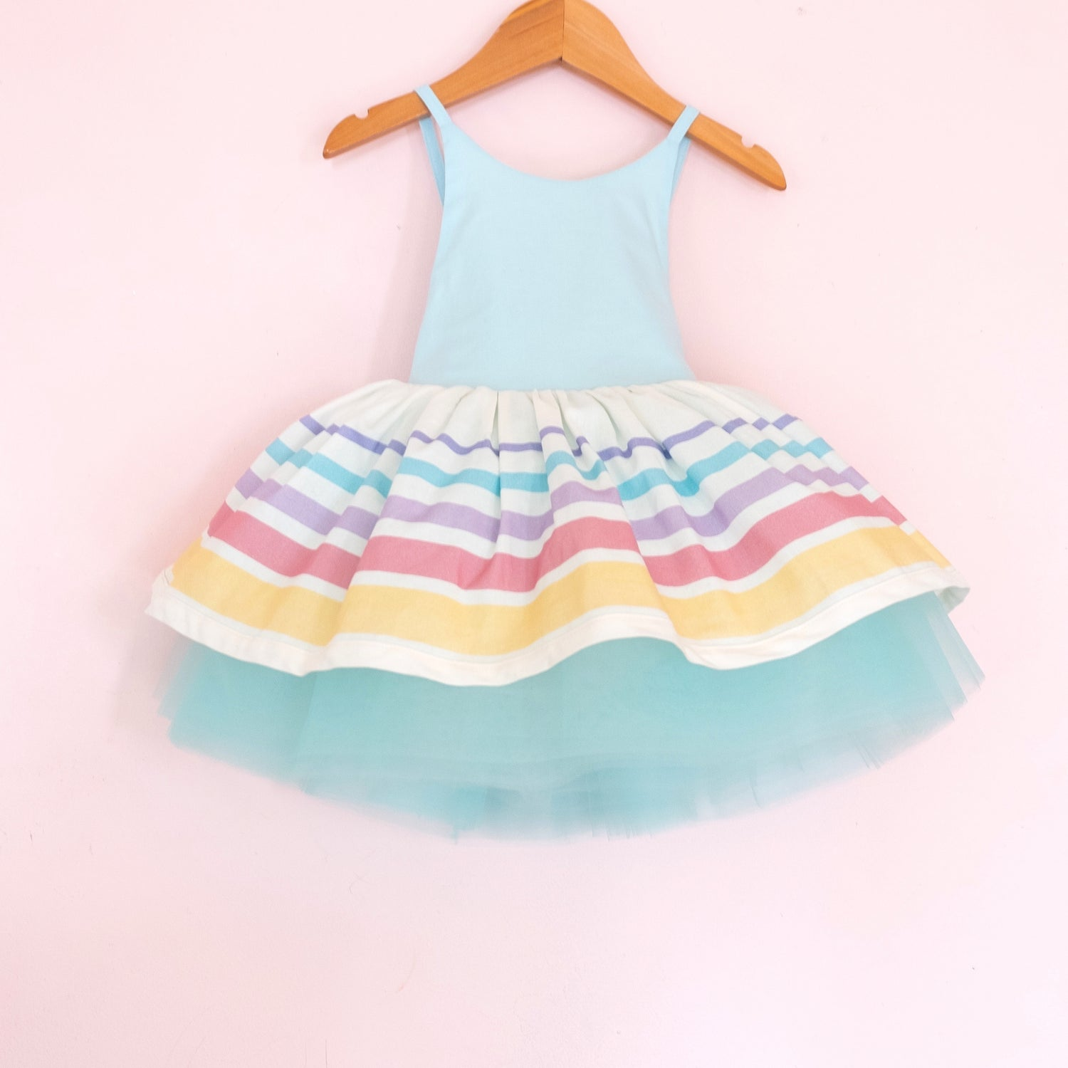 Spring Striped Classic Shortie - Cotton Candy
