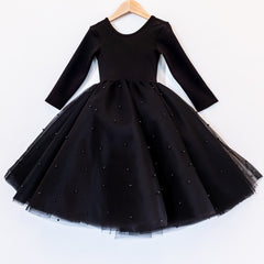 Front of the black swan dress