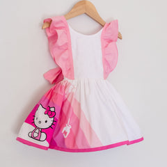 Front of the pink hello kitty belle