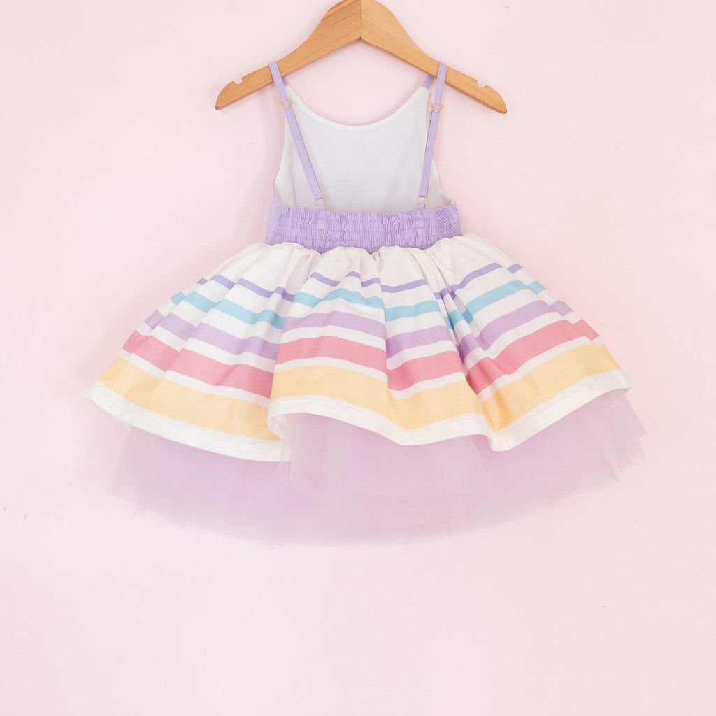 Spring Striped Classic Shortie - Taffy