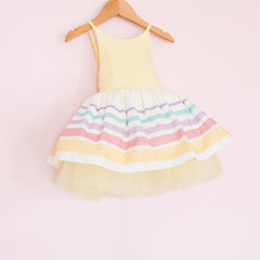 Spring Striped Classic Shortie - Lemon Drop