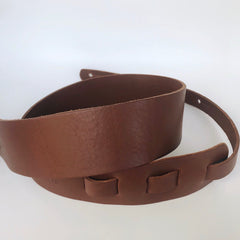 "Long Hollow Leather- 2.5"" Latigo Bass/Guitar Strap"