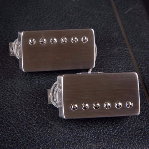 Bare Knuckle Abraxas Humbucker Set Brushed Nickle Covers New