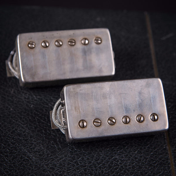 Bare Knuckle Black Dog Humbucker Set Aged Nickle Covers New