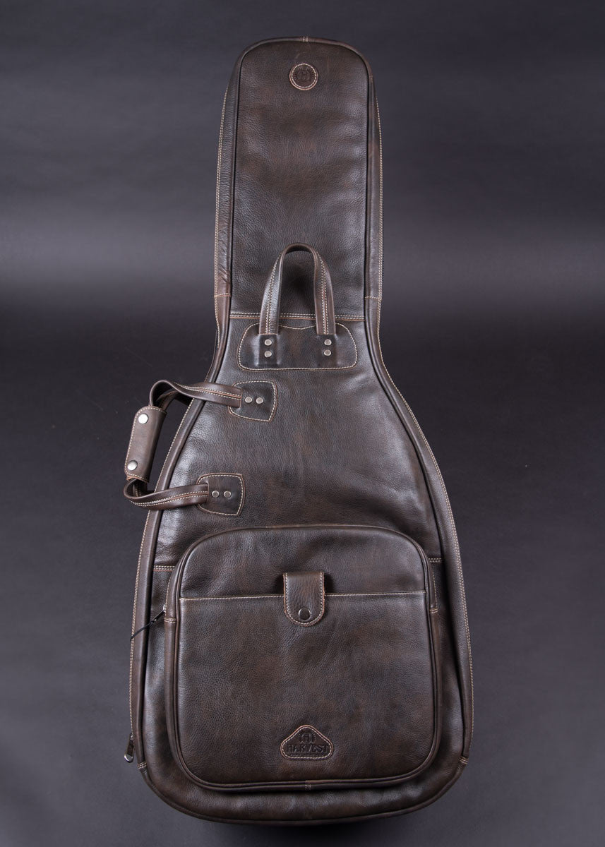 Harvest Fine Leather Double Guitar Bag New