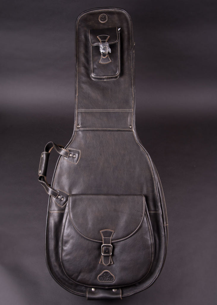 Harvest Fine Leather Archtop/Dread Guitar Bag New