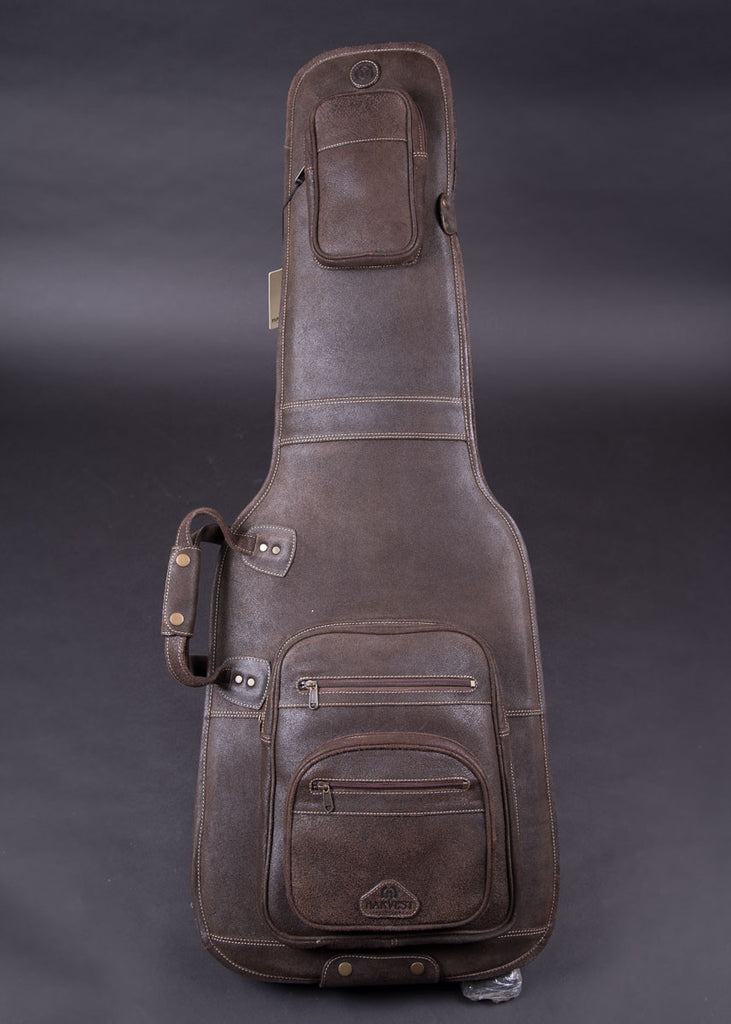 Harvest Fine Leather Guitar Bag Buffalo Crackle Brown New