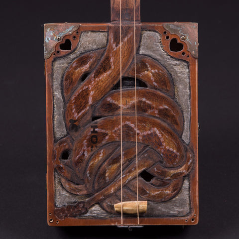 "James Willis 3-string Cigar Box ""Rattlesnake Roundup"""