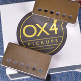 OX4 Humbucker Aged Cover Set New