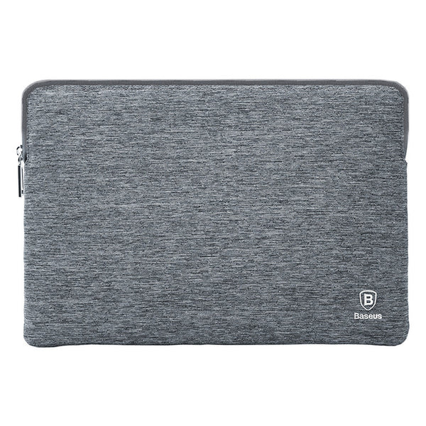 "Heather grey Soft Waterproof Zip Pouch for Macbook Pro 13"" & 15"" from lockdownmycontroller.com"