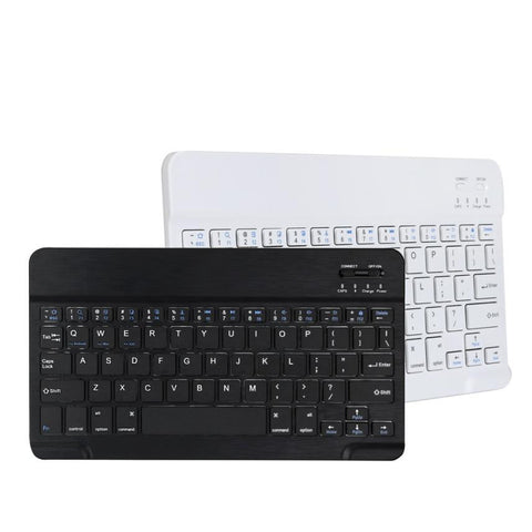 Aluminum Ultra-Slim Wireless Bluetooth Keyboard For Apple Macbook, iPad & PC (black and white) from lockdownmycontroller.com