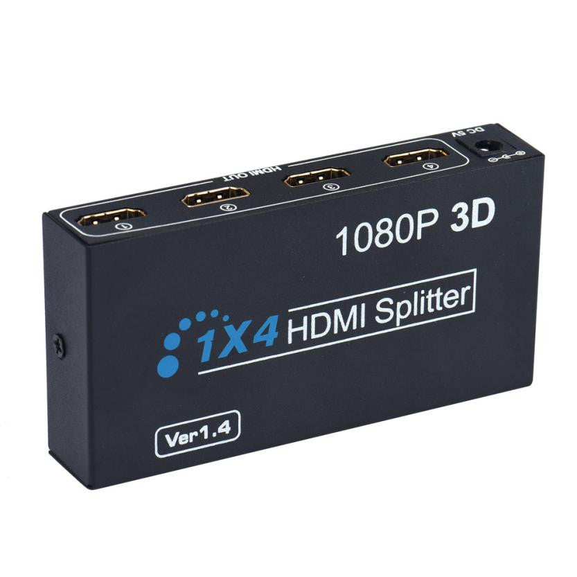 This 4x1 HDMI splitter allows you to use 4 different input sources on one HDMI line, 4 HDMI in and 1 HDMI out. from lockdownmycontroller.com