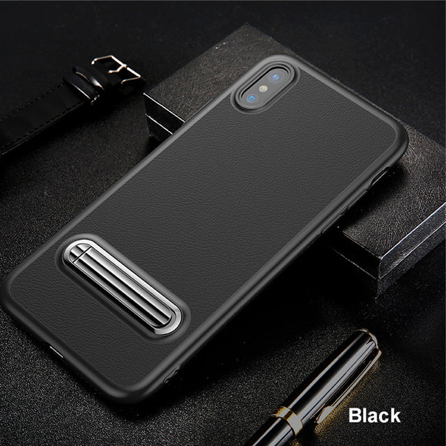 Black Black Leather & Metal Foundry Case for iPhone™ X from Lockdownmycontroller.com