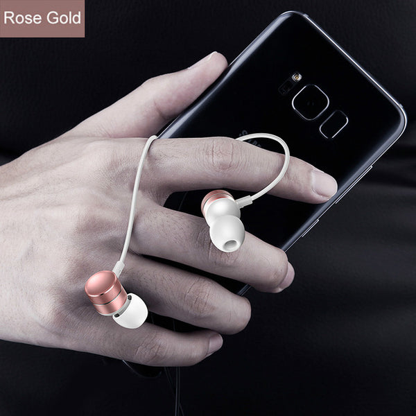Rose Gold BassMaster™ Thumper Wired Earbuds from Lockdownmycontroller.com