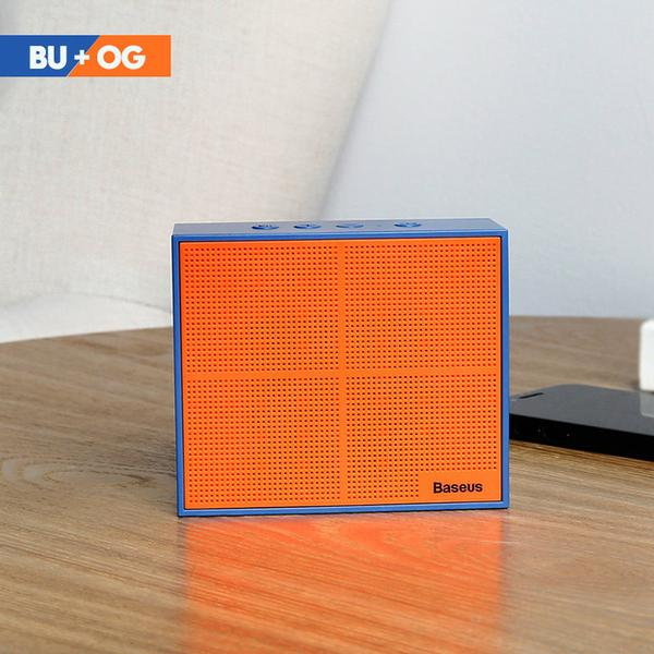 Orange Bass Box Triumph™ Portable Bluetooth Speaker from Lockdownmycontroller.com