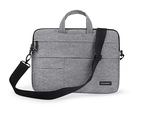 grey Messenger Style Waterproof Shoulder Bag for Mac Laptops from lockdownmycontroller.com