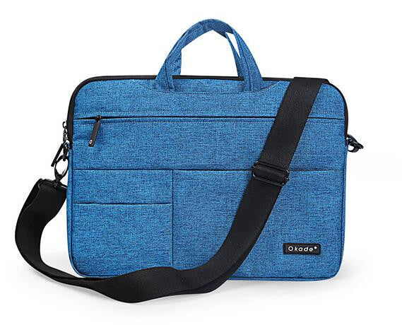 Blue Messenger Style Waterproof Shoulder Bag for Mac Laptops from lockdownmycontroller.com