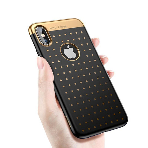 Goldie Soft iPhone™ X Case, Black & Gold embossed from lockdownmycontroller.com