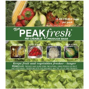 Peak Fresh Re-Usable Produce Bags **Set of Two** (20 bags total)
