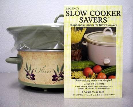 Slow Cooker Savers- 8 Disposable Liners for Slow Cookers by Regency Wraps