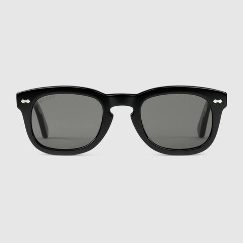 Gucci Mens Square-frame acetate sunglasses