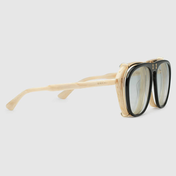 Gucci Mens Aviator acetate sunglasses