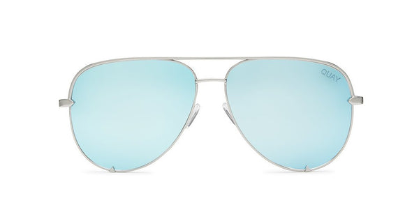 Quay sunglass high key blue silver